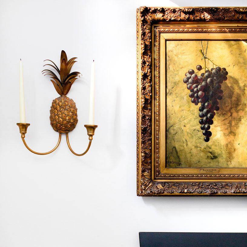 Entryway sconce and artwork The Baltimore House | Bria Hammel Interiors