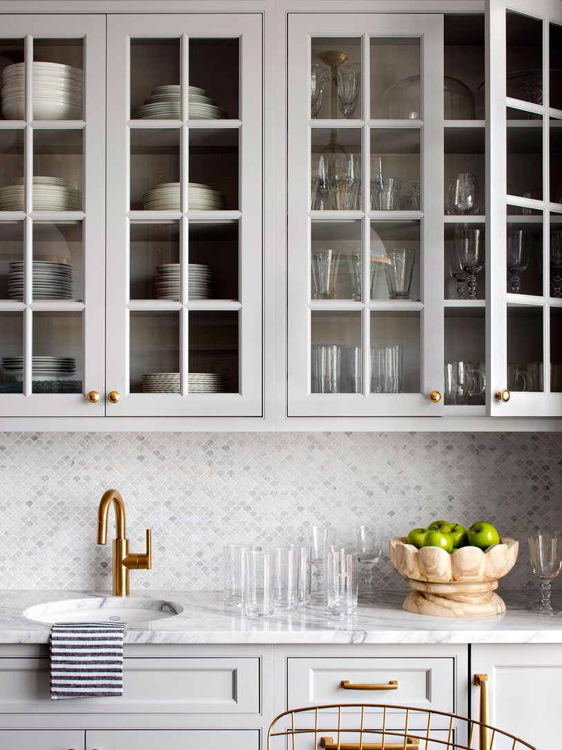 Gray glass cabinets | Bria Hammel Interiors