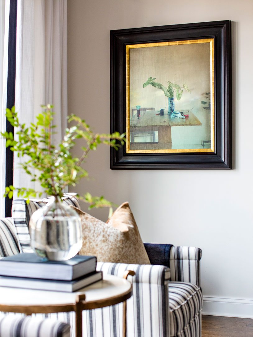 Antique Artwork in Living Room | Bria Hammel Interiors